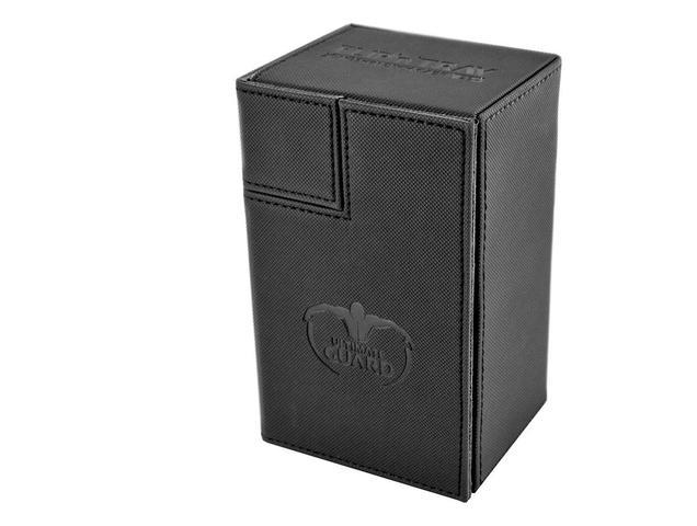 Ultimate Guard FlipnTray Deck Case: Black Xenoskin (80+)