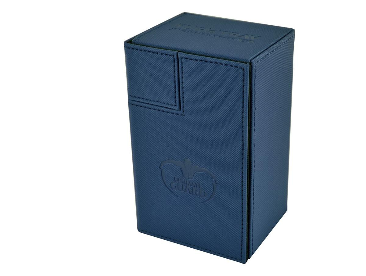 Ultimate Guard FlipnTray Deck Case: Blue Xenoskin (80+)