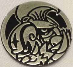 Black and Silver Escavalier and Accelgor Collectable Coin