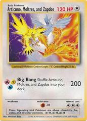 Oversized Articuno, Moltres, and Zapdos