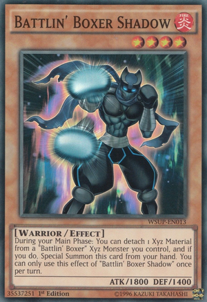 Battlin Boxer Shadow - WSUP-EN013 - Super Rare - 1st Edition