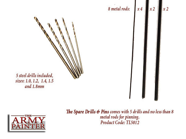 SPARE DRILLS & PINS