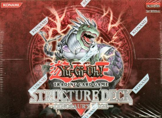 Yu-Gi-Oh Structure Deck: Dinosaurs Rage Display Box 8ct - 1st Edition