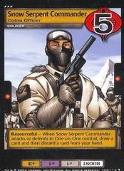 Snow Serpent Commander, Cobra Officer