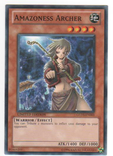 Amazoness Archer - GLD3-EN003 - Common - Limited Edition