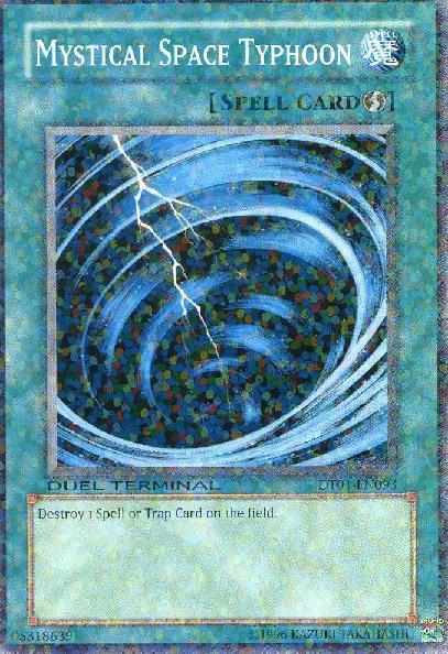 Mystical Space Typhoon - DT01-EN093 - Parallel Rare - Duel Terminal