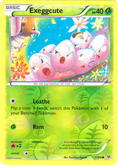 Exeggcute - 1/108 - Common - Reverse Holo on Channel Fireball