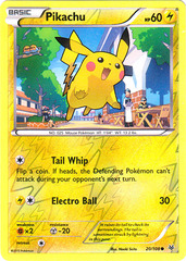 Pikachu - 20/108 - Common - Reverse Holo