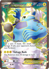 Thundurus-EX - 98/108 - Full Art Ultra Rare