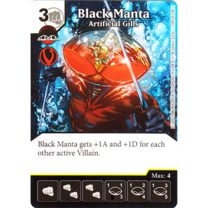 Black Manta Artificial Gills Die Amp Card Combo Combo