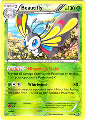Beautifly - 5/108 - Rare - Reverse Holo
