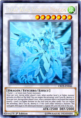 Clear Wing Synchro Dragon - CROS-EN046 - Ghost Rare - 1st Edition on Channel Fireball