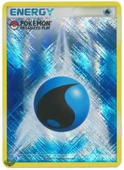 Water Energy Unnumbered Crosshatch Holo Promo - 2009 Pokemon Organized Play