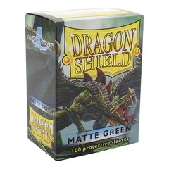 Matte Green - Standard Boxed Sleeves (Dragon Shield) - 100 ct
