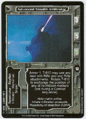 Mint//NM Composite Body Armor Terminator CCG Aliens Vs Predator Com Terminator
