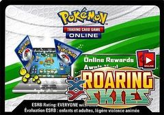 XY Roaring Skies Booster Pack Code Card