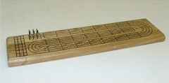 3-track Light Oak Cribbage Board With Metal Pegs