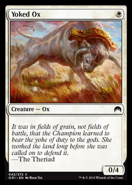 MTG MAGIC ORIGINS Yoked Ox foil