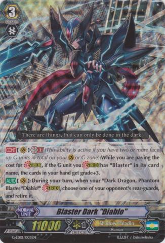 Blaster Dark Diablo - G-LD01/003EN - RRR