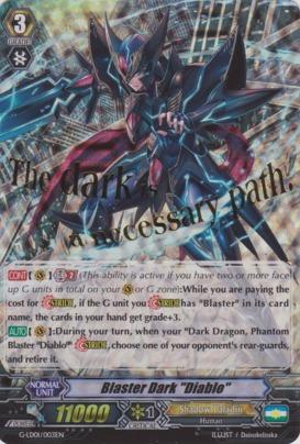 Blaster Dark Diablo - G-LD01/003EN - Stamped
