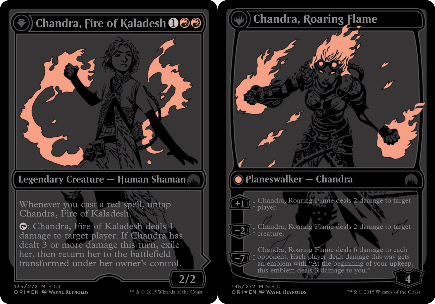 Chandra, Fire of Kaladesh // Chandra, Roaring Flame - SDCC 2015 Exclusive Promo