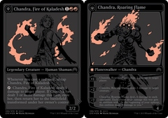 Chandra, Fire of Kaladesh // Chandra, Roaring Flame - SDCC Exclusive Promo - ORI