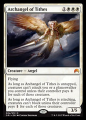 Archangel of Tithes - Foil on Channel Fireball