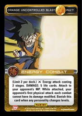 Orange Uncontrolled Blast R117