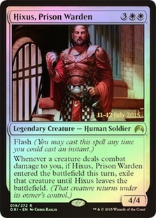 Hixus, Prison Warden - Foil - Prerelease Promos