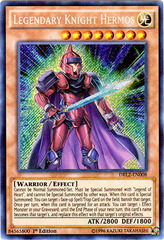 Legendary Knight Hermos - DRL2-EN008 - Secret Rare - 1st Edition