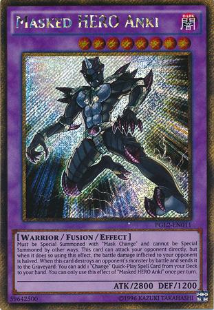 Masked HERO Anki - PGL2-EN011 - Gold Secret Rare - Unlimited Edition