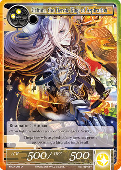 Grimm, the Heroic King of Aspiration - MOA-003 - U (Foil)