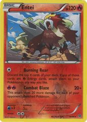 Entei - 14/98 - Rare - Reverse Holo on Channel Fireball