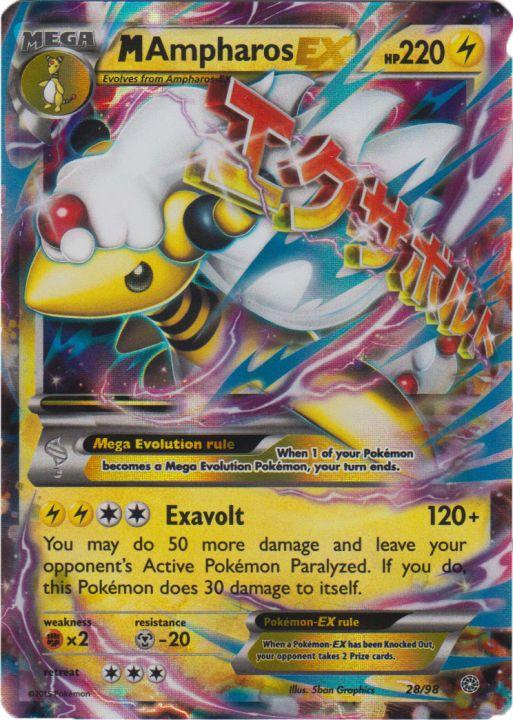 Mega-Ampharos-EX - 28/98 - Rare Holo ex