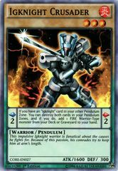 Igknight Crusader - CORE-EN027 - Super Rare - 1st Edition