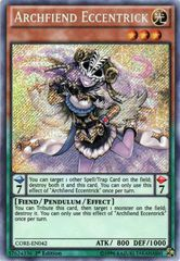 Archfiend Eccentrick - CORE-EN042 - Secret Rare - 1st Edition