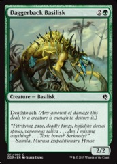Daggerback Basilisk on Channel Fireball
