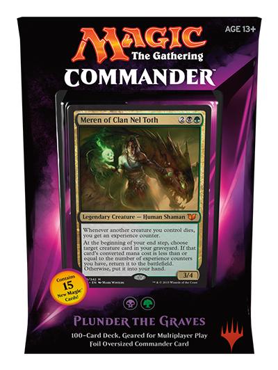 MTG Commander 2015: Plunder the Graves Deck (Black/Green)