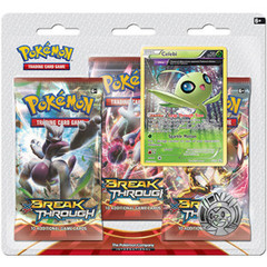 XY BREAKThrough Collector's Pin 3-Pack Blister - Celebi