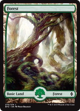 MTG-1x-NM-Mint 263 - Foil-War of the Spark English-Forest
