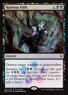 Ruinous Path (Battle for Zendikar Buy-a-Box Promo)