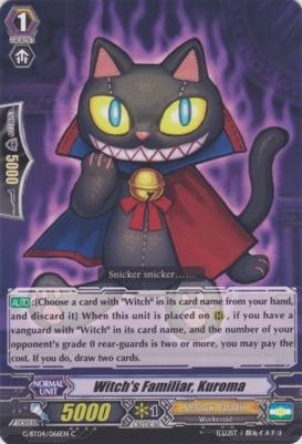 Witchs Familiar, Kuroma - G-BT04/066EN - C