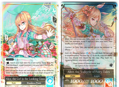 Alice, the Girl in the Looking Glass // Alice, the Valkyrie of Fairy Tales - SKL-093 // SKL-093J - R - 1st Edition on Channel Fireball
