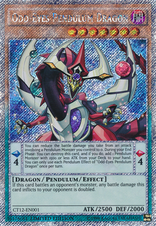 Odd-Eyes Pendulum Dragon - CT12-EN001 - Platinum Secret Rare - Limited Edition