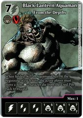 Black Lantern Aquaman - From the Depths (Full Art) (Die & Card Combo)
