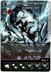 Black Lantern Superman - Krypton's Fall (Full Art) (Die & Card Combo)