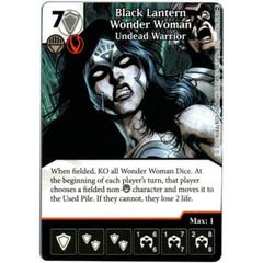Black Lantern Wonder Woman - Undead Warrior (Die & Card Combo)