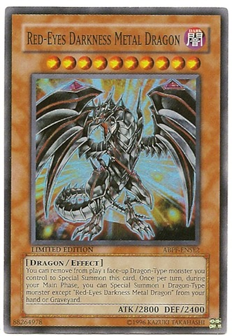 Red-Eyes Darkness Metal Dragon - ABPF-ENSE2 - Super Rare - Limited Edition