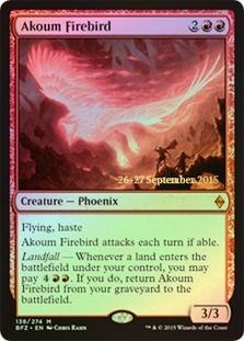 Akoum Firebird (Battle for Zendikar Prerelease Foil)