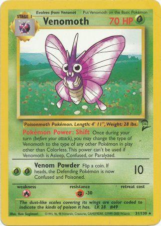 Venomoth - 31/130 - Rare - Unlimited Edition